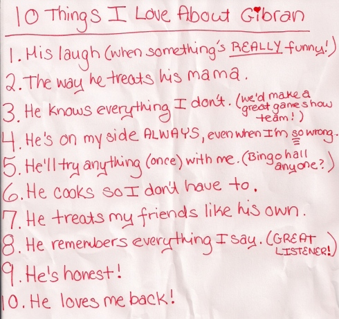 10 Things I Love About My Husband